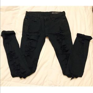 BLANK NYC Black Distressed Jeans